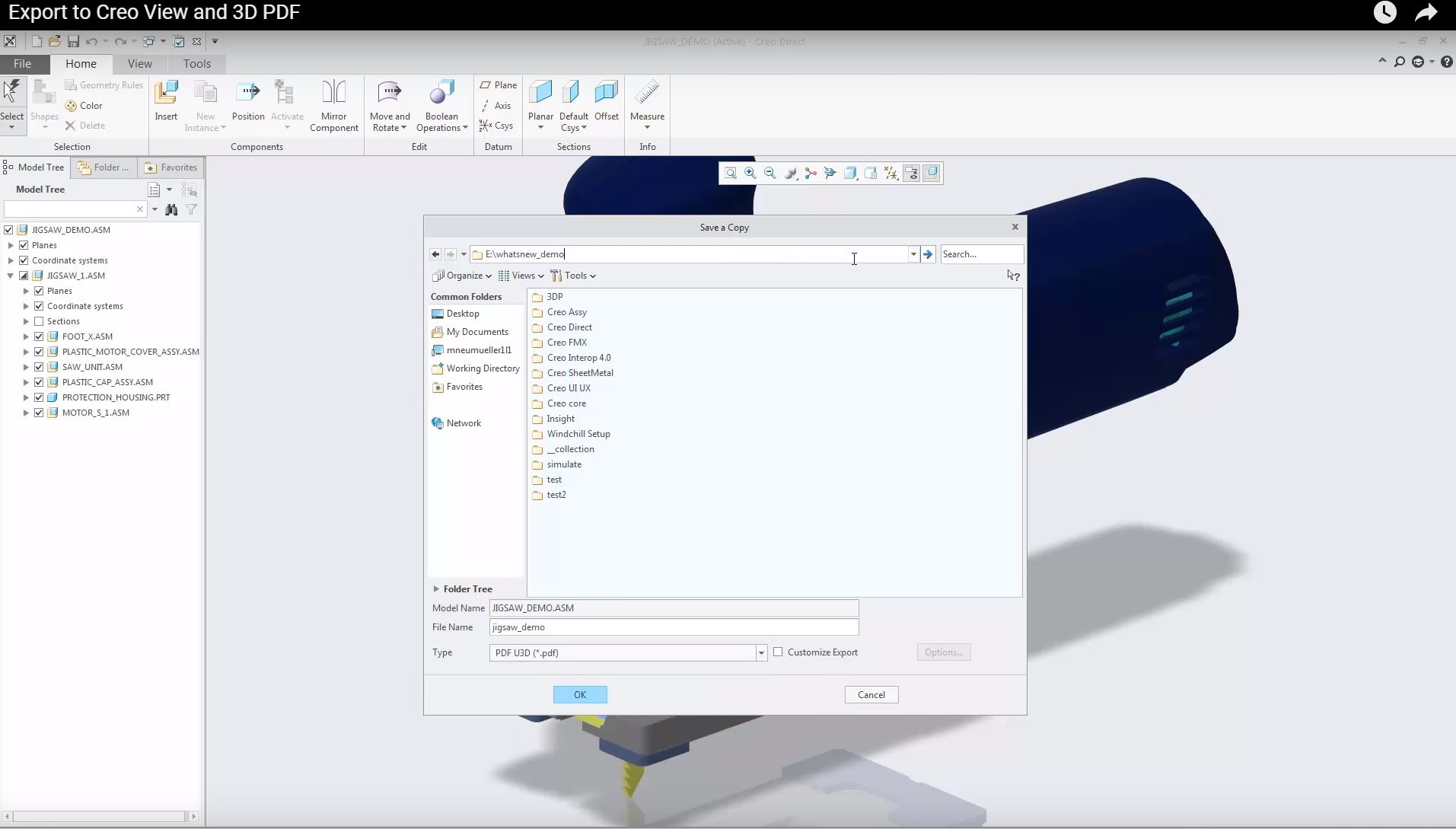 Creo Elements/Direct 3D PDF Converter